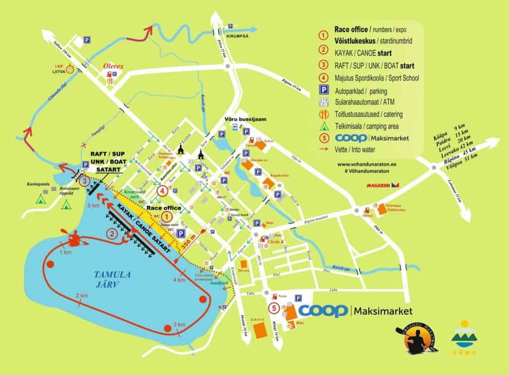 Схема старта марафона Выханду 2019